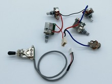guitar Pickups Wiring Harness Push Pull Switch Potentiometers 1 Toggle Switch + 4 Pots + Jack : potentiometer with switch wiring - yogabreezes.com