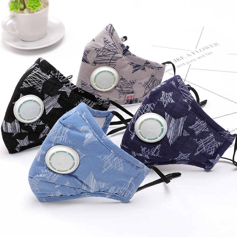 New Cotton Dust Mask Anti-fog PM2.5 Respirator Masks Anti Influenza Breathing Valve Adult KN90 Safety Particulate Respirator