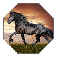 Neue Kommen Gewohnheit Hübscher pferd Sonnenschirme Kreative Design Hohe Qualität Faltbare Regen Regenschirm
