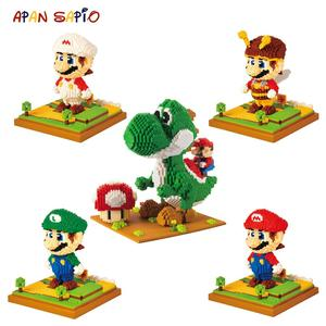Image 1 - Model Building Blocks Cartoon Anime Figures Assembled Mini Brick Educational Toys For Children
