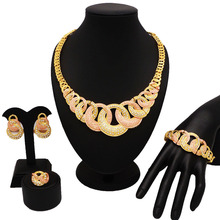 many big stone jewelry ses african gold  fashion sets color guranteed super quality jewery set high
