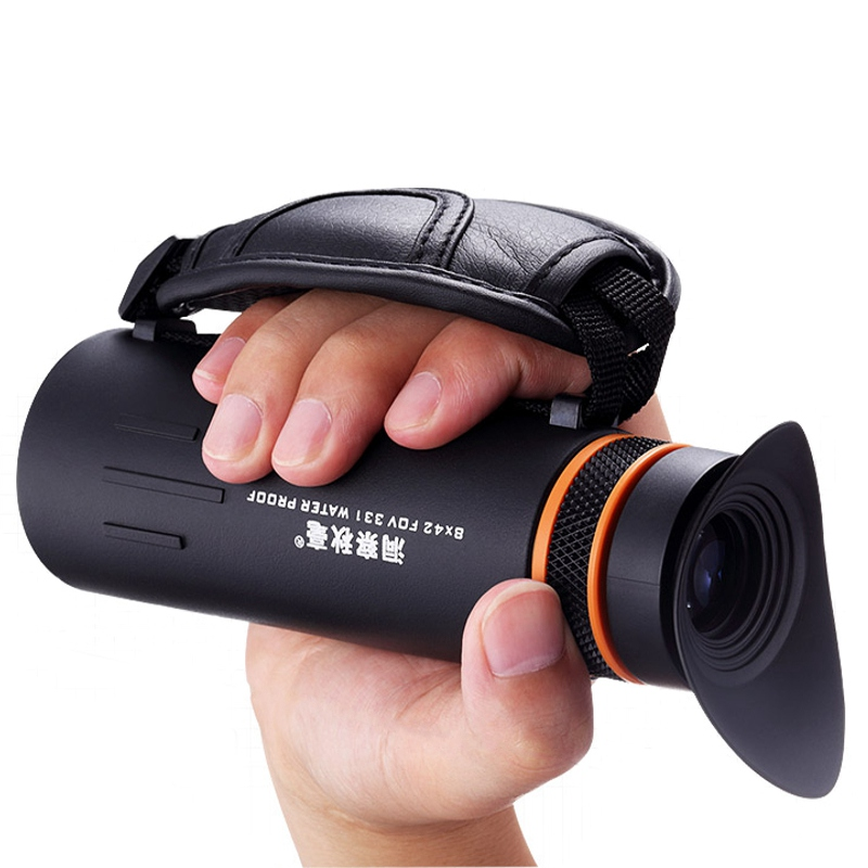 8X42 HD Night Vision Handheld Monocular Lens Outdoor Camping Travel Clear Zoom Optical Telescope Lens for Smart Phones