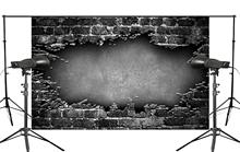 Dark Wall Mosaic Broken Floor Brick Photo Background Children Studio Retro Photography Props 150x220cm