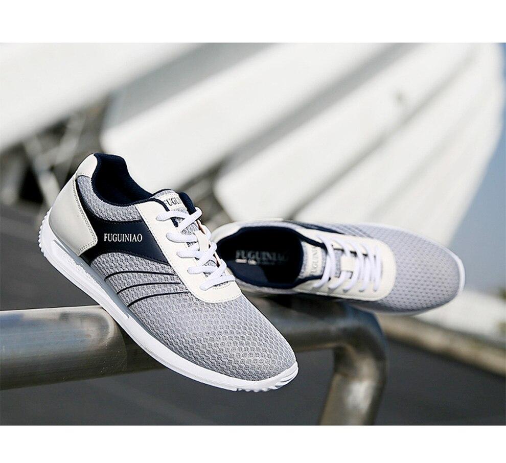 ฤดูร้อนระบายอากาศรองเท้าลำลอง!จัดส่งฟรี! FUGUINIAOที่มีคุณภาพสูงตาข่ายผู้ชายแสงแบนรองเท้า/สีสีขาว,สีดำ-ใน รองเท้าลำลองของผู้ชาย จาก รองเท้า บน   3