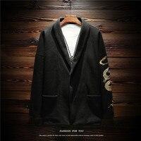 2018 Vendita Calda Trincea Inverno, Stile cinese, Menswear, Retro Gold, ricamo, giacca a vento, Costume degli uomini, capelli Cappotto, grande Cappotto