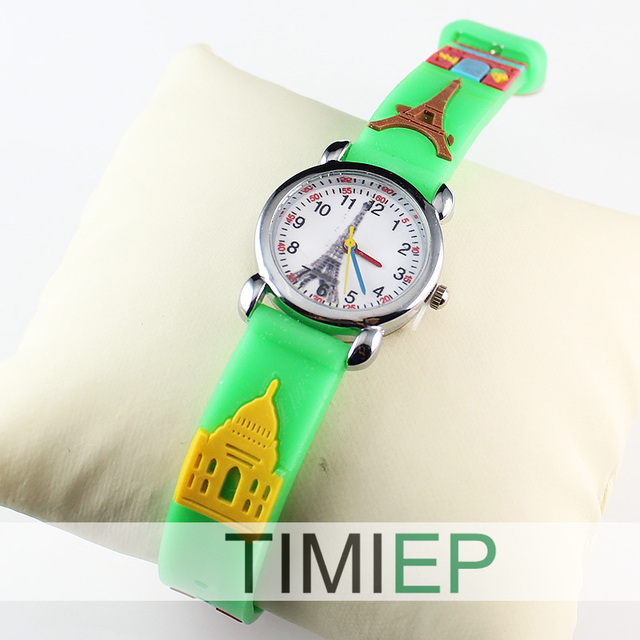 2018 New 3D Silicon Cartoon Character Kids Watch For Boys Girls Quartz Wrist Watches Children Love Nice 5 Colors