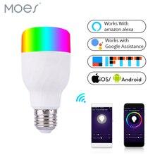 Wifi-патрон, умный свет лампы умная цветная светодиодная лампа 7 Вт RGBW приложение дистанционное управление работает с Alexa Google для умного дома E27 E26