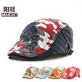 Boys and girls camouflage hat children during the spring and autumn Korean cartoon cloth Beret peaked cap hat children