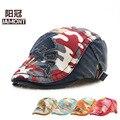 Niños y niñas sombrero de camuflaje niños durante la primavera y el otoño de la historieta coreana beret visera cap niños del sombrero de tela