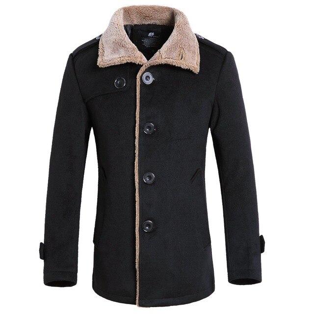 Abrigo de lana para hombres Ropas de Lana cazadora chaqueta delgada Ocasional del Hombre de Negocios de Moda Otoño invierno de Buena Calidad Gent Vida