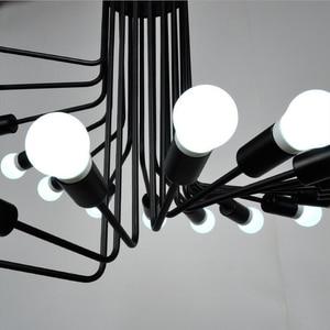 Image 5 - Loft Amerikanischen retro industriellen wind kreative persönlichkeit spirale treppe wohnzimmer kaffee restaurant bar bar eisen kronleuchter