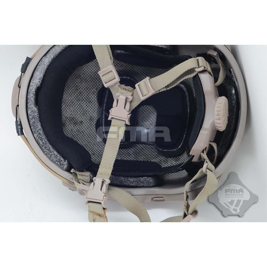 Fma capacete cinta colisão marítima mich capacete queixo extensor cinta tan de