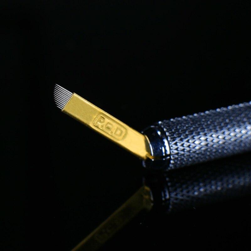 500 pcs PCD 12 Pins Lamina Nano Blade Premium 12 Hard 0 25mm Permanent Makeup Microblading