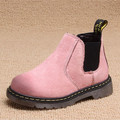 2016 Girls Pink Winter Boots Girls Genuine Leather Boots Zipper Kid Sewing Suede Boot Martin boots Unisex Fashion Shoes Slip-on