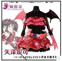 Love Live Yazawa Nico Little Devil Awaken Dress Custom Made Uniforms Cosplay Costume Free Shipping