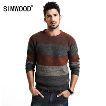 SIMWOOD Neue Herbst Winter warme pullover männer langarm 66% wolle pullover fashion brand kleidung MY2071