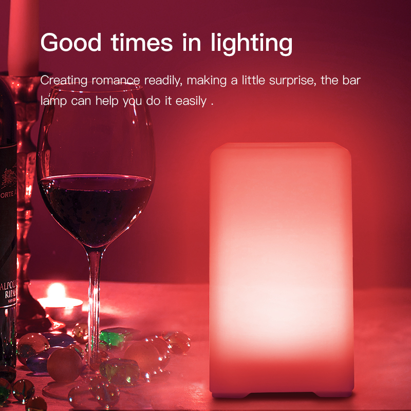 Zakoo Colorful Cool LED Night Light Chargeable Battery Bedside Lamp 3 Modes Square Creative Lamp Table Night Lamp Bar Light zakoo colorful cool led night light chargeable battery bedside lamp 3 modes square creative lamp table night lamp bar light
