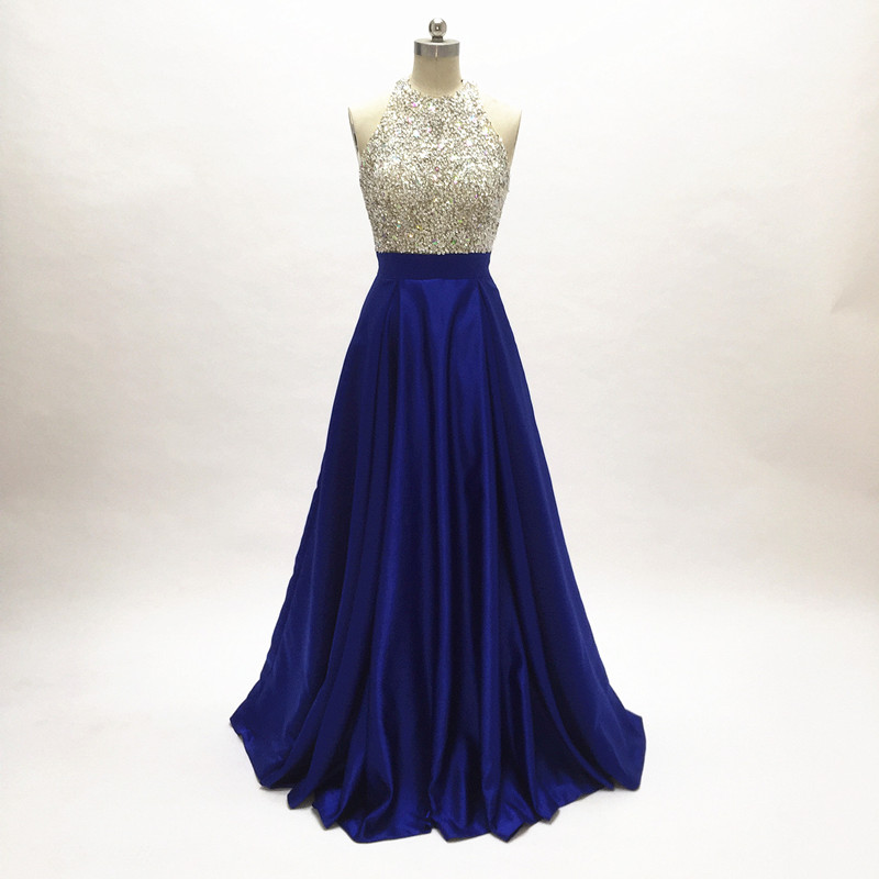 328f2bd9e7ba1 Taffeta Fabric 100% Handwork Sexy Design Black Color Long Crystal Prom  Dresses Ball Gown Evening Dresses Satin Party Dress 2019