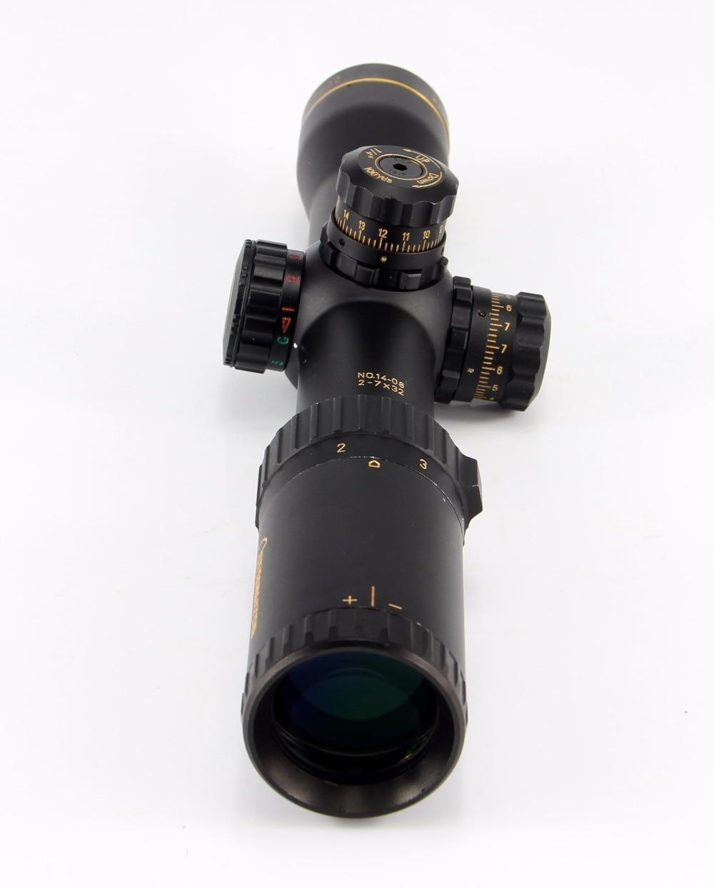 купить 2-7x32 Professional Tactical Rifle Scope Airsoft riflescope For Outdoor Sports Hunting Air Gun онлайн