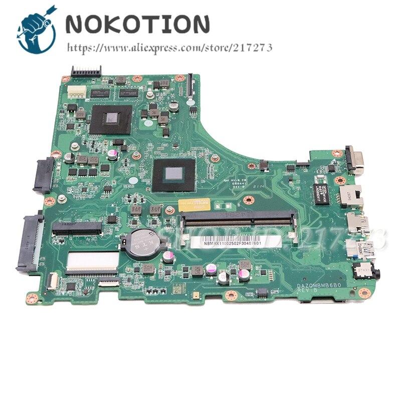 NOKOTION Scheda Madre Del Computer Portatile per Acer aspire E5-411 E5-411G Scheda Principale DAZQMBMB6B0 NBMRX11002 NB. MRX11.002 DDR3NOKOTION Scheda Madre Del Computer Portatile per Acer aspire E5-411 E5-411G Scheda Principale DAZQMBMB6B0 NBMRX11002 NB. MRX11.002 DDR3