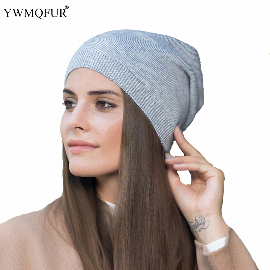 YWMQFUR 2018 New arrival popular hats women's beanies hats for Spring and Autumn knitted with wool fashional caps gorros H70A