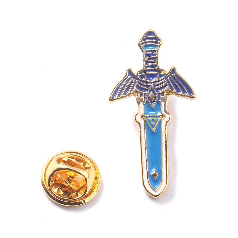 The Legend Of Zelda Enamel Pin Bros Ke Langit Pedang Pisau Lencana Bros untuk Wanita Pria Kids Hadiah Perhiasan