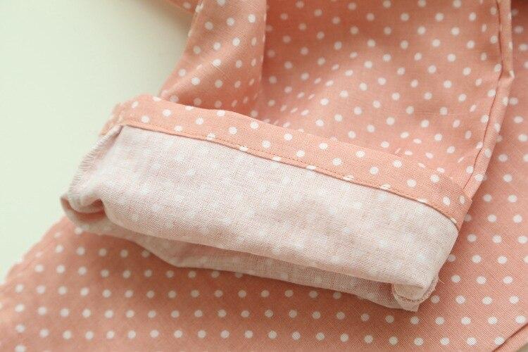 Spring Summer Women's Sleep Bottoms Pajamas Pants Trousers Polka Dot Women Lounge Pants Loose Cotton Home Pant Plus Size E1059 5