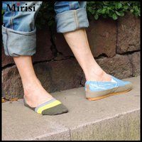 5 pairs/lot High quality Bamboo fiber anti-slip fashionable invisible socks