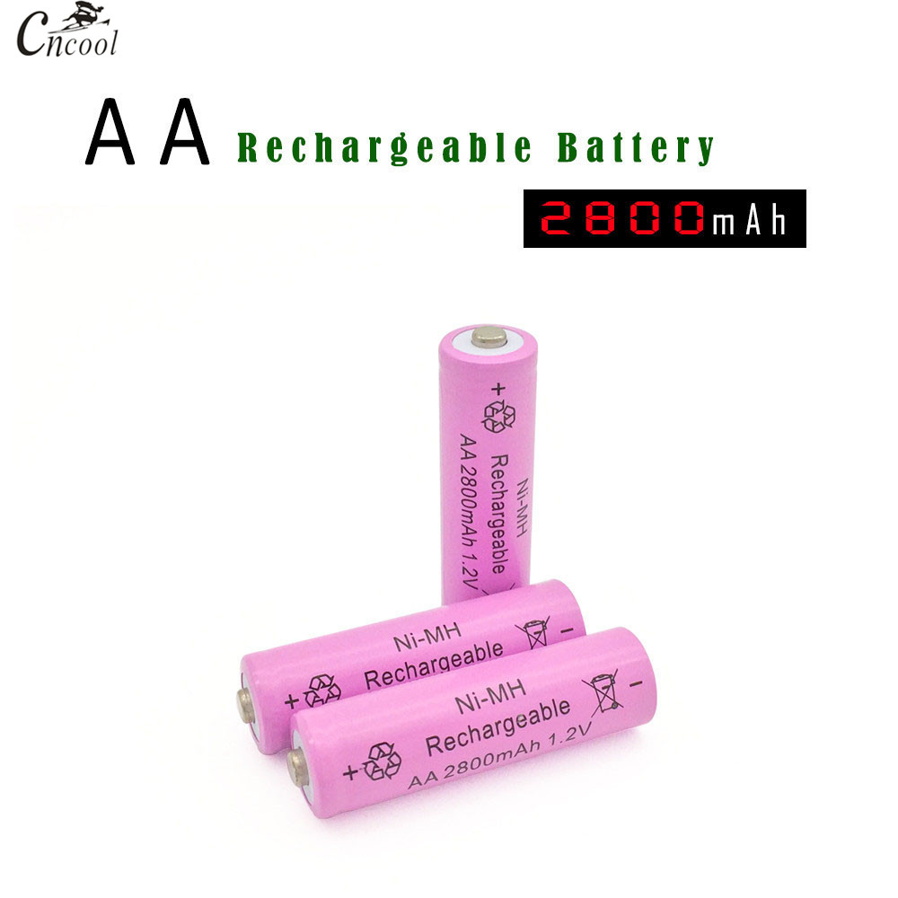 20pcs Ni-MH 1.2V AA Rechargeable 2800mAh 2A Neutral Battery Rechargeable battery AA batteries For toys camera
