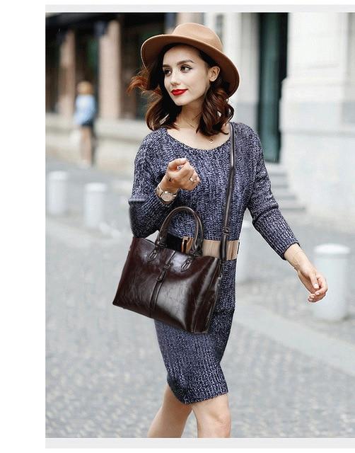 Genuine Leather Large Handbags  5