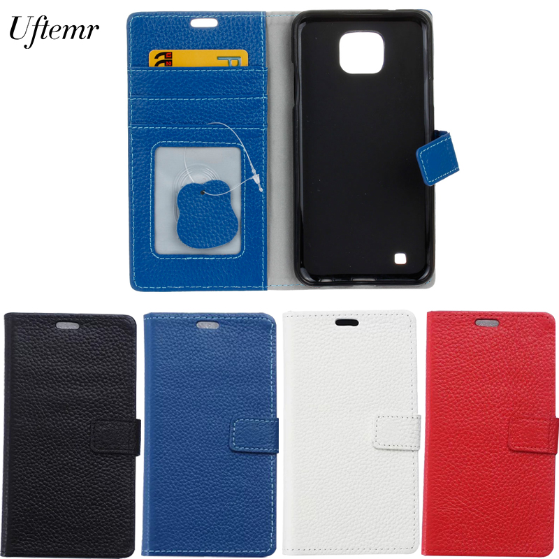 For LG X Cam Case Luxury Genuine Leather Cover Wallet Case For LG X Cam K580 K580DS Flip Protective Phone Cases Back Cover Skin