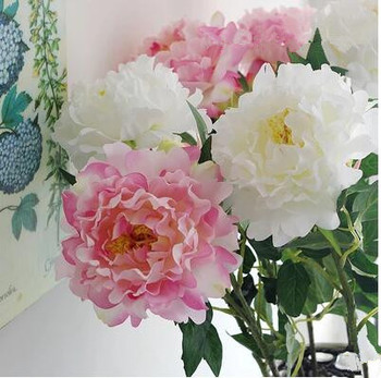 Artificial Flower Classic in peony flower simulation silk branch.christmas decorations for home