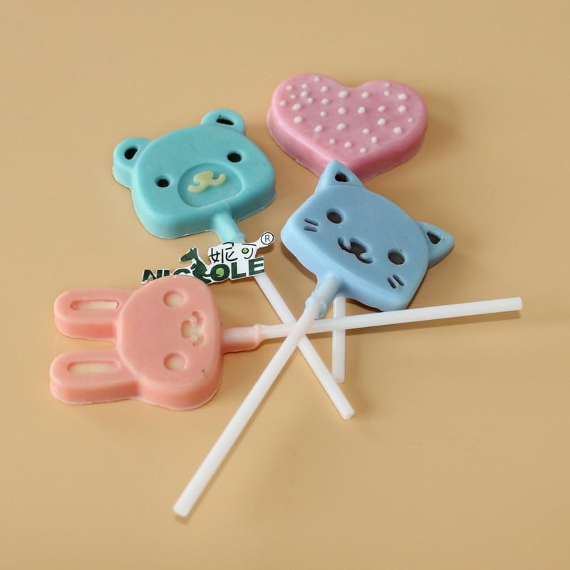 Moulds Cute Lollipop Kafshëve Moulds çokollatë silikoni - Kuzhinë, ngrënie dhe bar - Foto 5
