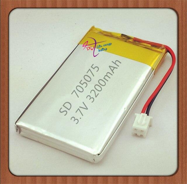 XHR-2P 2.54 3200 мАч 3.7 В в специальное предложение core полимерные батареи для мобильных устройств 705075 DIY