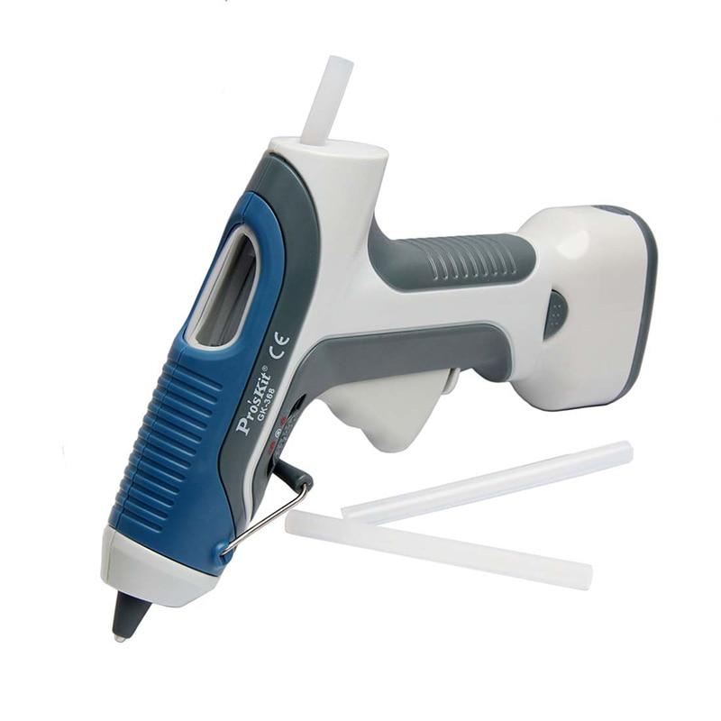 ФОТО Free Shipping Home DIY Repair Tool Brand Proskit Professional 6V GK-368 Battery Operated Glue Gun + 3 Sticks Hand Tools