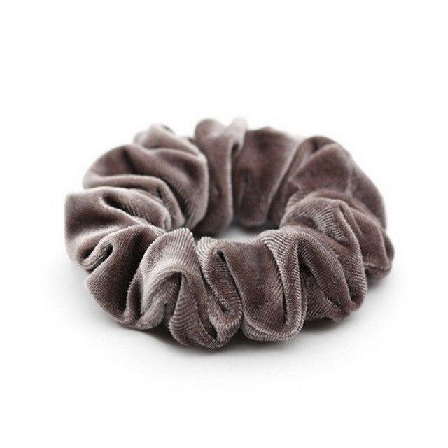 isnice women's winter velvet hair Scrunchies Hair Tie Hair Accessories Ponytail Holder Hair scrunchy Hot Sale ornament 3
