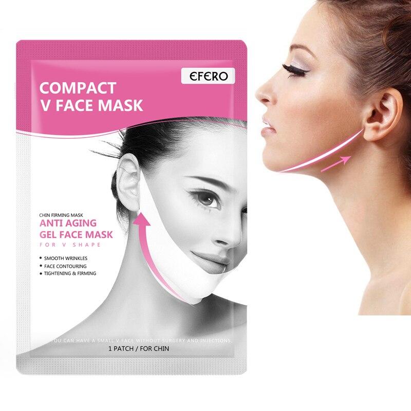 1pc Máscara Lifting Facial V Forma Reduzir Queixo Duplo Rosto Máscara Anti Rugas V Linha De Emagrecimento Elevador Para Cima Das Mulheres ferramenta de beleza Rosto Magro Máscara