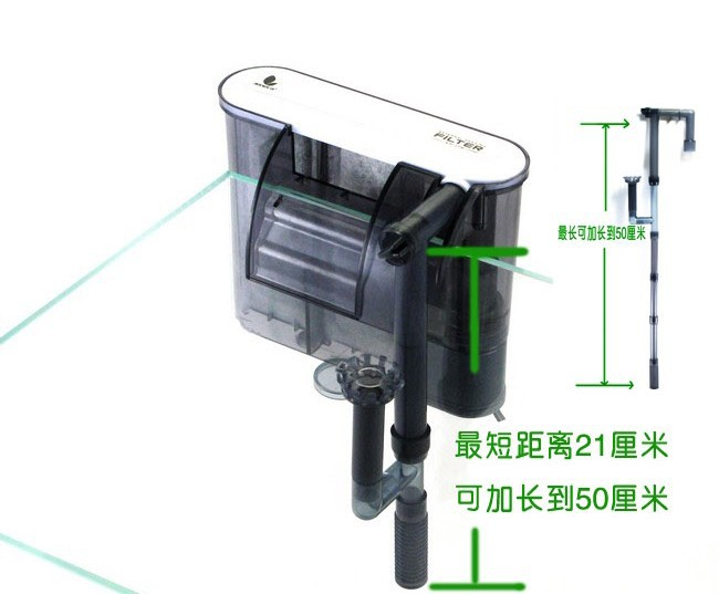XP 09 waterfall font b aquarium b font filter tank external wall mountable oil film processing