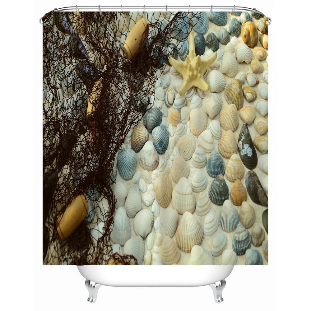 High Quality Pockets PEVA Shower Curtain Clear Multi-Purpose Bathroom Storage Waterproof Mildew-Proof 12 Hooks AP11