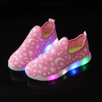 2017 New Fashion Cool Casual Toddler First Walkers LED Lighted Cool Baby Girls Boys Shoes Hot