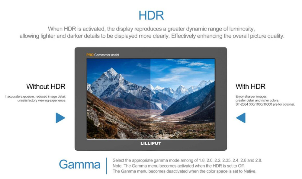 """Ev ve Bahçe'ten Fotoğraf Kabini Donanımları'de LILLIPUT Q7PRO 7 """"3G SDI Kamera üst monitör 3 DLUT HDR GÜNLÜK Gama tam ekran dalga formu'da  Grup 2"""