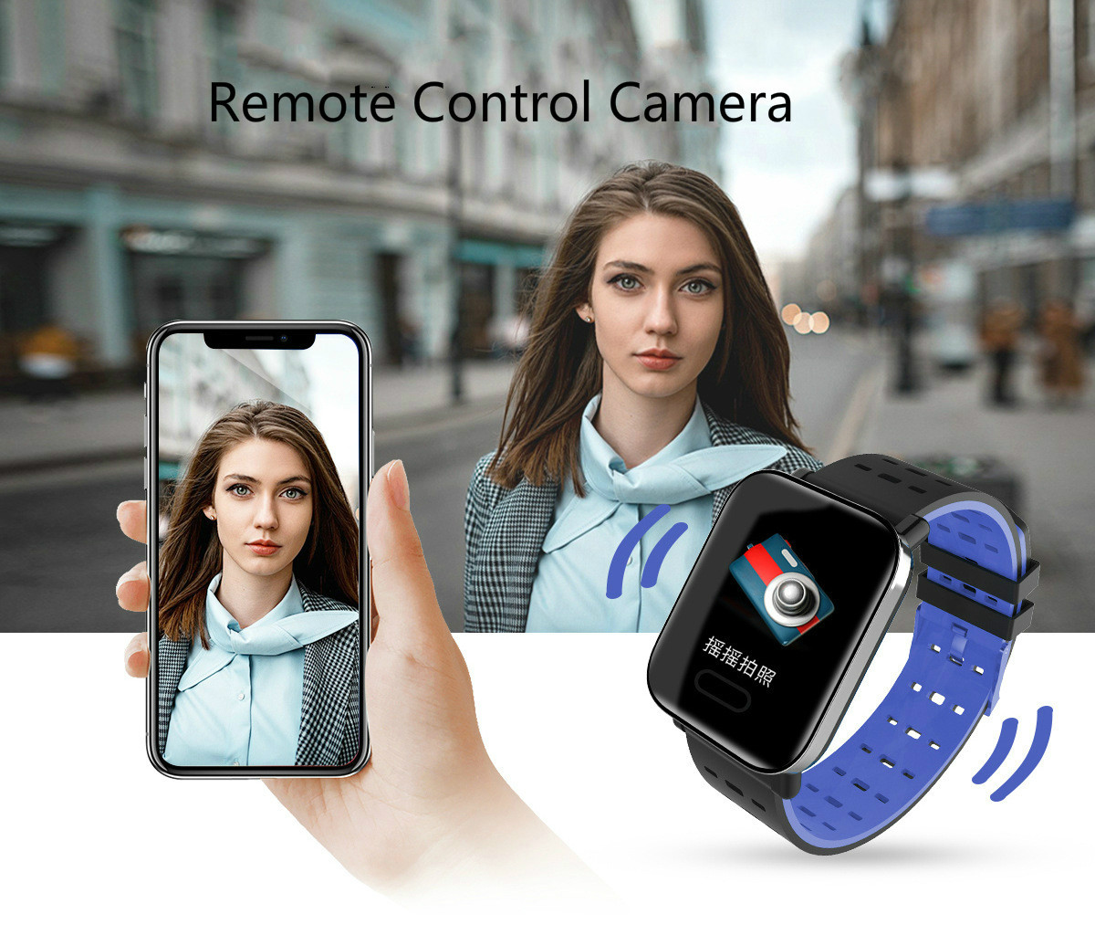 Image 4 - Smart Wristband  Bluetooth Smart Watch for Android iPhone Touch Screen fitness activity watch Tracker Remote silicone  Bracelet-in Smart Wristbands from Consumer Electronics