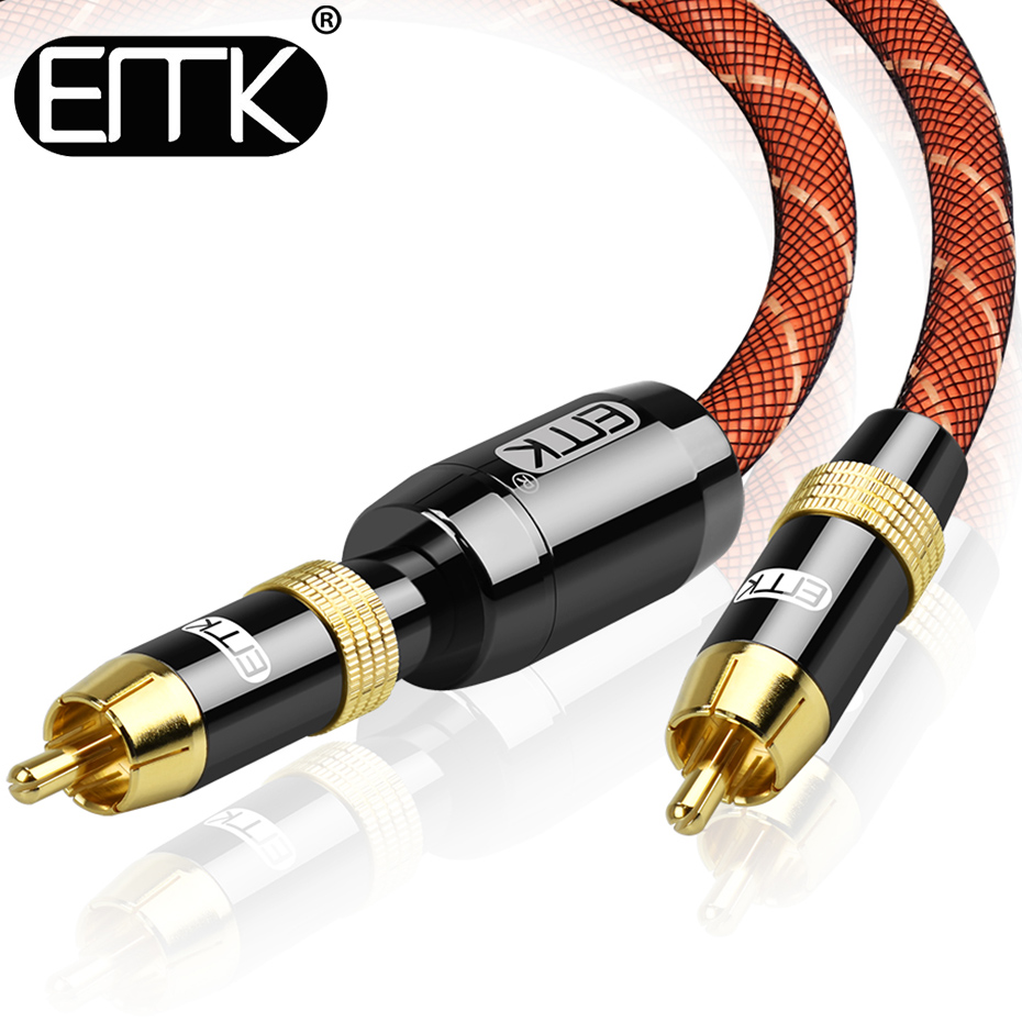 EMK Stereo Digital Coaxial Audio Video RCA Cable speaker cable Hifi Subwoofer cable AV TV cables 5m 8m 10m