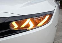 2016 ~ 2018/2012 ~ 2015 Año estilo de coche para faro Civic, hid xenon/LED DRL antiniebla para lámpara de cabeza Civic