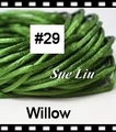 2.5mm 100yds/spool Willow (#29) Rattail Satin Cord Chinese Beading Polyester (similar but not nylon) Cord NCP5