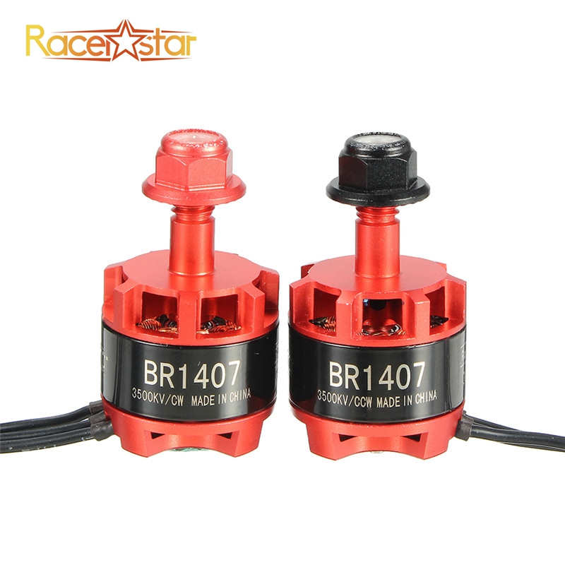 Free Shipping Racerstar 1407 BR1407 Red Racing Edition 3500KV 2-3S Brushless Motor for 150 180 200 RC Racing Racer Drones Frame original racerstar rs30a lites 30a blheli s bb2 2 4s brushless esc for fpv quadcopter racer rc racing drones frame kit spare