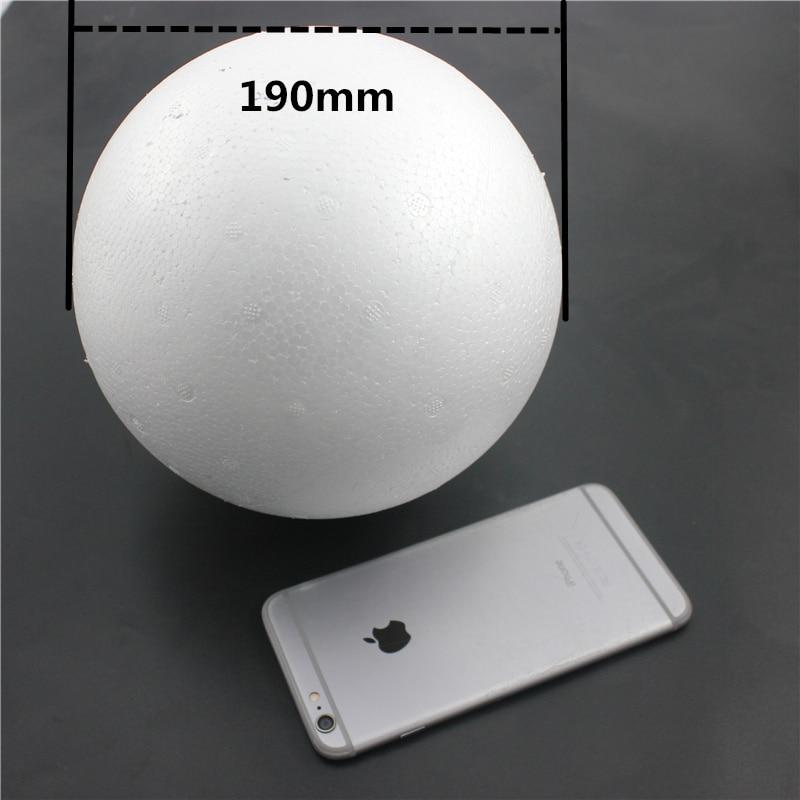 1 шт. 190 мм моделирование пенополистирол пенопласт пены мяч белый авторские шары для DIY для рождественской вечеринки украшения поставки подарки