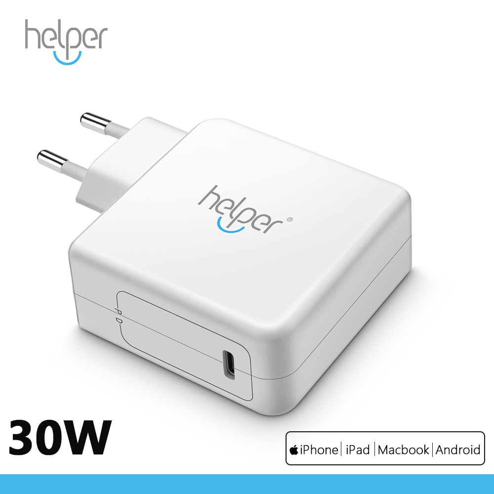 US $19 99 |USB Type C Wall Charger 30W with Power Delivery PD 3 0 for  MacBook 12'' , i Pad Pro 2018, i Phone XS/Max/XR/X/8/7/Plus and more-in  Laptop