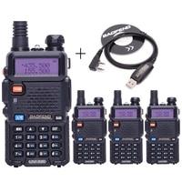 4pcs BaoFeng UV 5R Walkie Talkie VHF UHF 136 174Mhz 400 520Mhz Dual Band Two Way