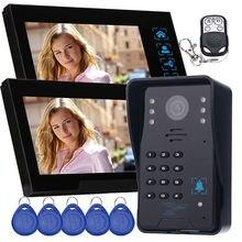 Hot 7″Hands-free video door phone door access control system 2 Indoor Unit+1 Outdoor Unit video intercom With Password Keypad